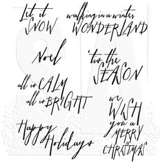 Tim Holtz Cling Mount Stamps - Handwritten Holidays 2 CMS209