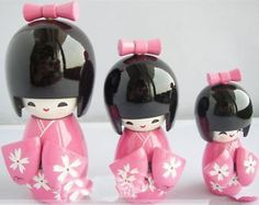 Japanese Kokeshi dolls :)