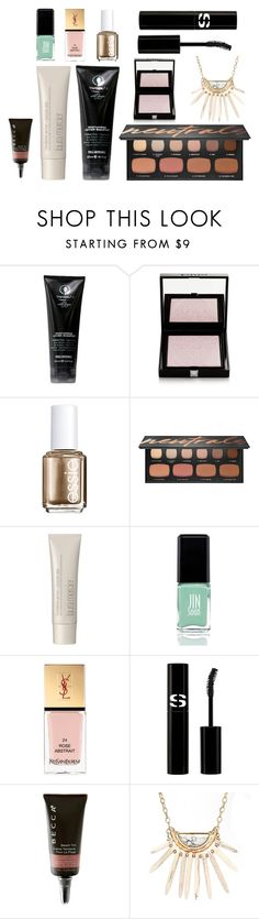 """""""april beauty favorites"""" by surfcitybeauty ❤ liked on Polyvore featuring beauty, Paul Mitchell, Givenchy, Essie, Bare Escentuals, Laura Mercier, JINsoon, Yves Saint Laurent, Sisley and Becca"""