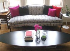 reupholstered victorian couch...love