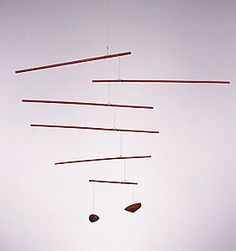 """Untitled, c. 1942  Wood, wire, string, and paint  47 1/2"""" x 61 13/16""""  Calder Foundation, New York  A01120"""
