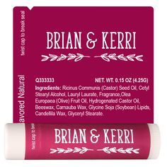 Wedding Lip Balm Template 2242 Personalized Mother Of The Bride Groomsmen