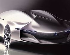 Mercedes-Benz 2040 Vision Sedan by Sansung Moon Future Concept Cars, Future Car, Car Design Sketch, Car Sketch, Mercedes World, Mercedes Benz, Mercedes Concept, Mexico 2018, City Car