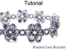 Beading Tutorial Pattern Bracelet - Beadweaving - Beaded Flowers Jewelry - Simple Bead Patterns - Beaded Lace #471