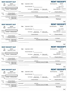 rental receipt printable receipt template excel for use and