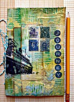 A journal Created by Michelle for the Simon Says Stamp Monday Challenge (Anything Goes) January 2014