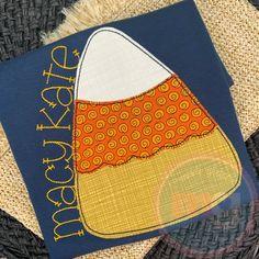Candy Corn, Applique Designs, Embroidery Applique, Monogram, Monograms