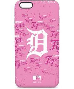 Detroit Tigers - Pink Cap Logo Blast iPhone Cases