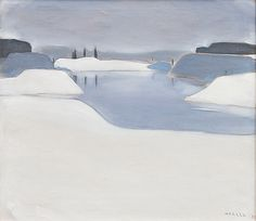 Ahtela (Einar Reuter) (Finnish, A Wintry Landscape, Oil on canvas, x cm. Oil On Canvas, Auction, Snow, Modern, Pictures, Painting, Winter Art, Outdoor, Design