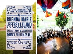 big printed invite reminder for website or display at the wedding...