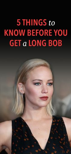 5 things you need to know before getting a long bob #Hairstyle #Tips #Advice