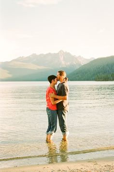 Idaho Engagement Session :: Sawtooth Mountain Range