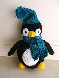 amigurumi holiday penguin crochet pattern