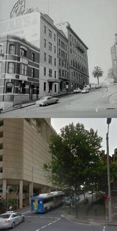 Albert Street, Circular Quay in 1963 and - Sydney City… Phil Harvey, Stuff To Do, Things To Do, Sydney City, Old City, Sydney Australia, Historical Photos, Past, Street View