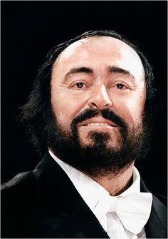 Luciano Pavarotti by Richard Haughton