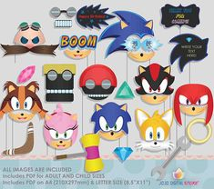 Editable Hedgehog Photo Booth Props for Boom Party