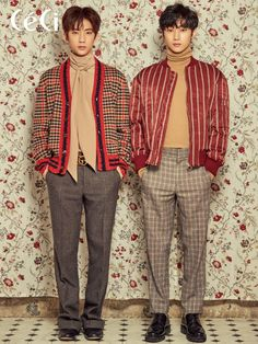 Gongchan, Jinyoung (B1A4) - Céci Magazine February Issue '17