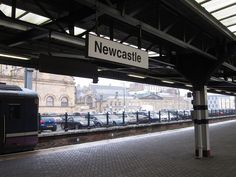 Newcastle station simply set in Helvetica. #typography