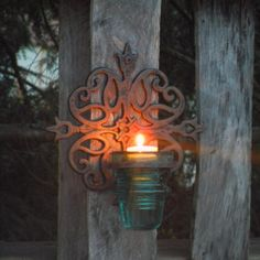 CLEARANCE! Repurposed Blue Antique Telephone Insulator Sconce - Rustic Meets Industrial on Etsy, $25.00