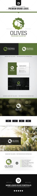 Olives Logo — Transparent PNG #leaf #mediterranean • Available here → https://graphicriver.net/item/olives-logo/15503171?ref=pxcr