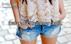 just girly things♥ lol,I pinned this because, although i DO have a super perfect summer outfit, it includes the same shirt as her