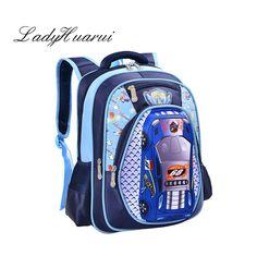 6b1ccfa0c53f 3D Cartoon Big Capacity Russia Style Orthopedic School bags For Boys Car  Ultralight Waterproof Backpack Child Kids School bag Q5-in School Bags from  Luggage ...