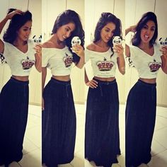 Maxi skirts and crop tops