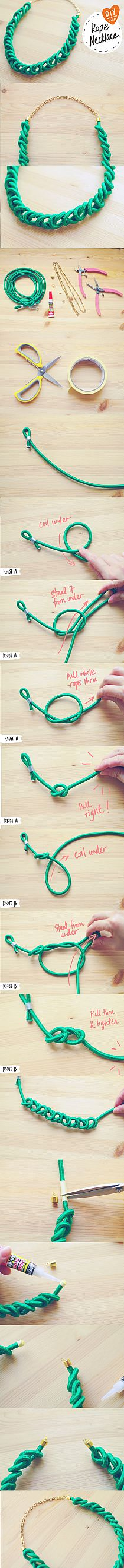 diy rope necklace jewelry necklaces, diy necklace, collar, diy bracelet, diy rope necklace, knot, rope bracelet diy