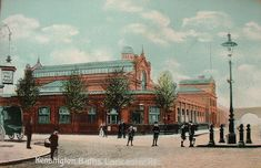 Lancaster Road Baths on the corner of Lancaster Road and Silchester Road, c.1900. photo: RBK&C
