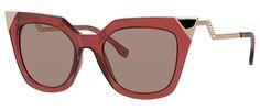 Óculos de sol Fendi Iridia 60 Vermelho - FENDI você encontra aqui. Compre com…