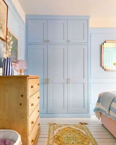 Home Bedroom, Bedroom Decor, Wardrobe Handles, Blue Rooms, Beautiful Bedrooms, House Colors, Decoration, Home Furnishings, Living Spaces