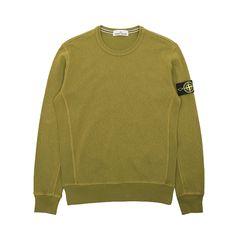 Stone Island Malfile Fleece Garment Dye Crewneck Sweatshirt - Classic Malfile Fleece Garment Dye Crewneck Sweatshirt from Stone Island. Essential.