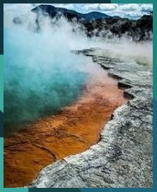 Stunning patterns, textures and colors of nature! Champagne Pool, Rotorua, New Zealand - photo by Nature Photography, Travel Photography, Travel Reviews, Beautiful Places To Travel, New Zealand Travel, Vanuatu, Travel Aesthetic, Travel Couple, Family Travel