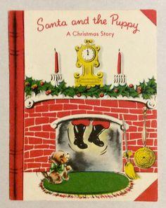 Vintage Christmas Cards, Christmas Greeting Cards, Christmas Greetings, Christmas Traditions, Vintage Cards, Vintage Postcards, Christmas Is Coming, A Christmas Story, Christmas Fireplace