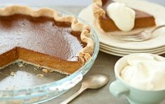 Pumpkin Pie with Pecan Crust and Cinnamon-Spiced Whipped Cream | Whole Foods Market