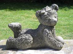 Girl Teddy Bear Statue