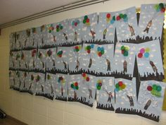 Up, Up and Away!, Gr.2, tissue collage