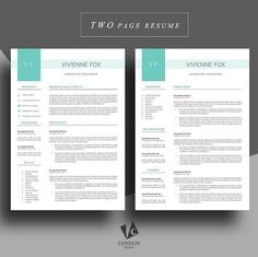Sample Two Page Resume 2 Pages  Pinterest  Sample Resume And Template