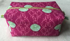Cosmetic zippered box pouch by LexieLooo on Etsy https://www.etsy.com/listing/221085578/cosmetic-zippered-box-pouch