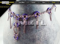 Womens Medieval Punk/ Industrial Chain Maille by MetlAttire