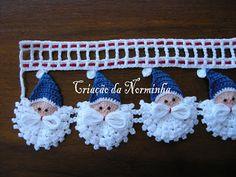 OFICINA DO BARRADO: CROCHE - PAP Noel Azul ...