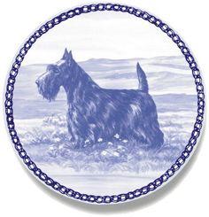 "Scottish Terrier Lekven Design Dog Plate 19.5 cm / 7.61"" Plate #7486"