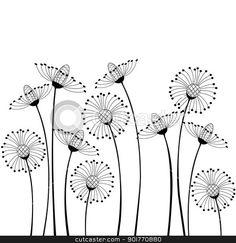 meadow flowers stock vector Cartoon flowers Flower drawing Spring drawing