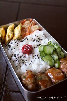 Pork Meatball Japanese Bento Lunch|肉団子弁当