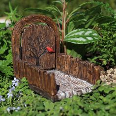Mini Cardinal Fairy Door