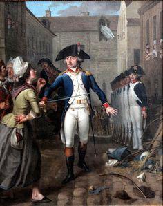 Garde national protégeant une cargaison de sucre pendant les émeutes parisiennes de janvier 1791.vizille