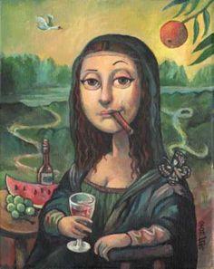 0335 [Stefan Atzenhofer] Happy Mona Lisa