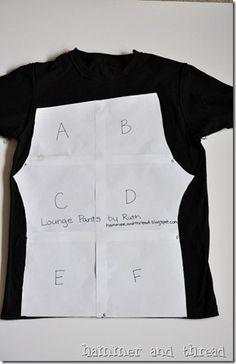 pyjamabroek uit t-shirt - patroon en tutorial