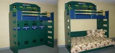 A locker room themed loft bed! Perfect for your little Syracuse Chiefs fans to pretend there a major leaguer!