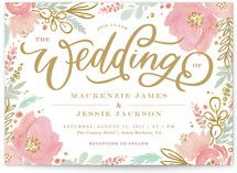 Floral Vignette Save The Date Cards by Kristen Smith | Minted